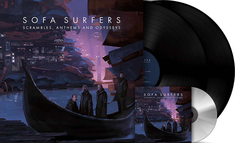 Sofa Surfers - Scrambles, Anthems and Odysseys - Double Vinyl + CD + Digital